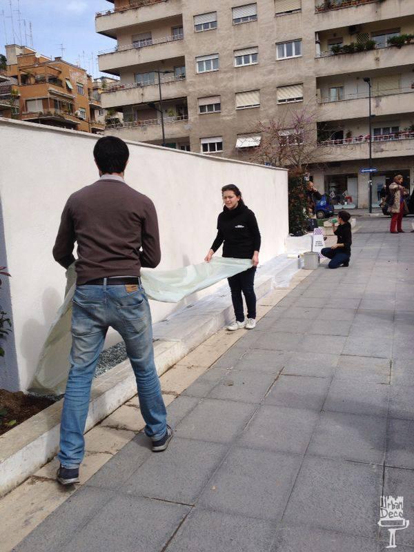 Decorazione muro piazza sant 39 emerenziana for Blog decorazione interni