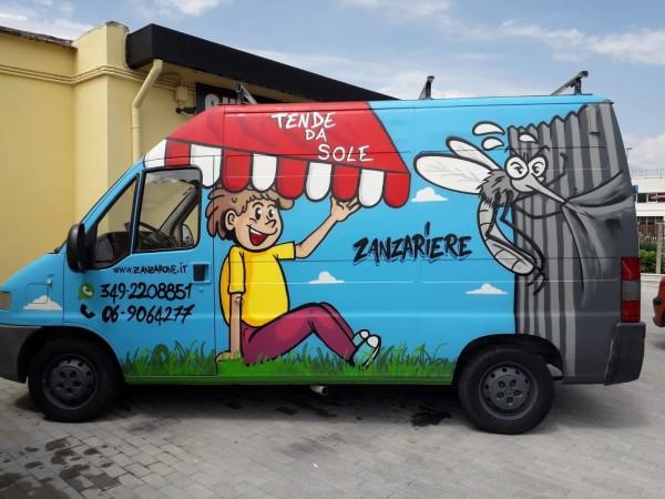 decorazione furgone vista laterale